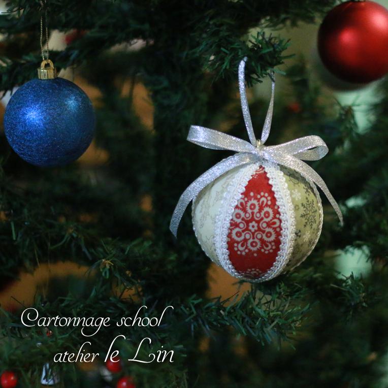 カルトナージュ作品 クリスマス オーナメント