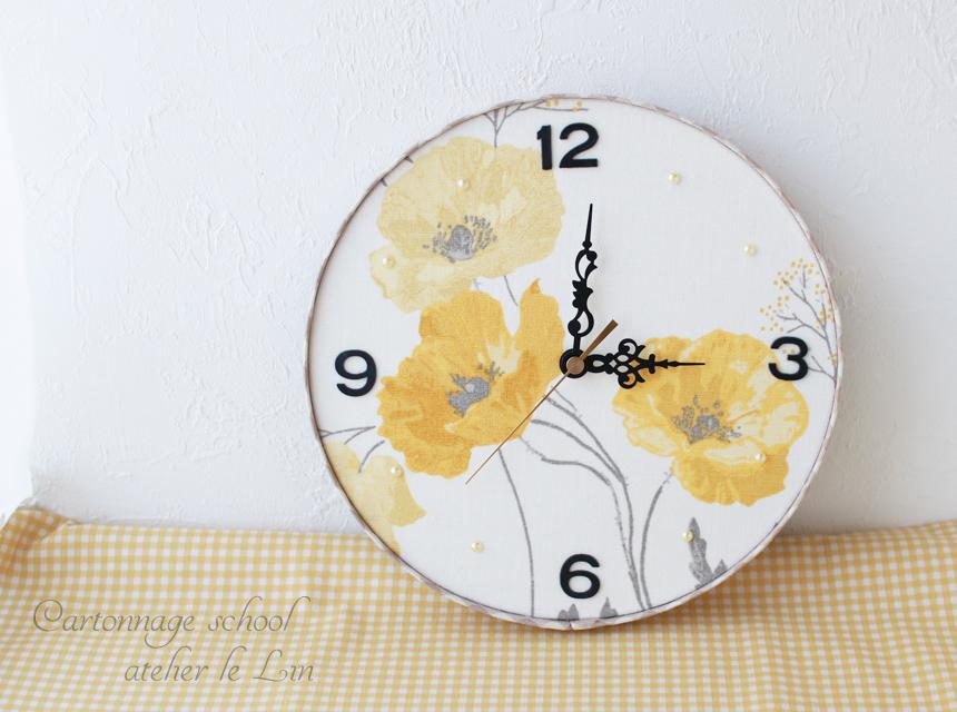 カルトナージュ作品 壁掛け時計