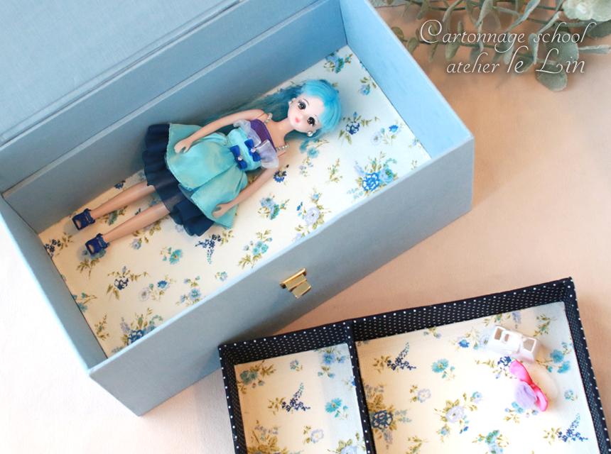 カルトナージュ作品 リカちゃん人形収納ボックス
